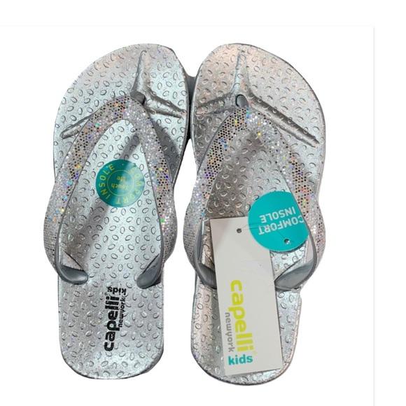 25a350fd917a Capelli Elli Silver Glitter Jelly Flip Flop